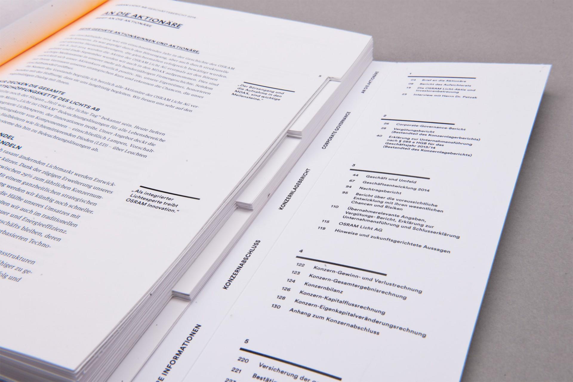Alica  Osram Licht AG Geschäftsbericht